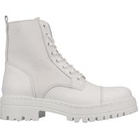 Schuhe Damen Boots Steven New York Stiefelette Weiß