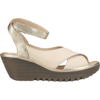 Schuhe Damen Sandalen / Sandaletten Fly London Sandalen Weiß/Gold