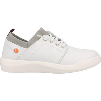 Schuhe Damen Sneaker Low Softinos Sneaker Weiß/Grau