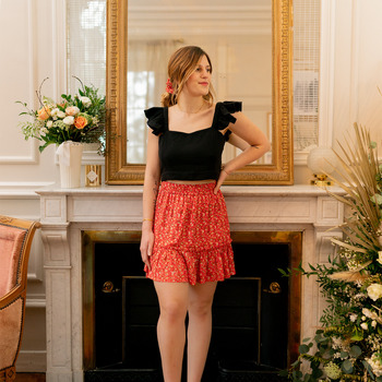 Kleidung Damen Röcke Céleste AZALEE Rot / Multicolor