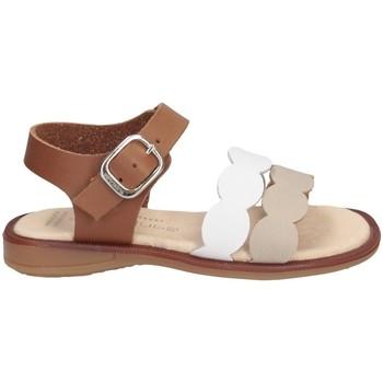 Schuhe Mädchen Sandalen / Sandaletten Andanines 211437 Sandalen Kind WEISS / LEDER WEISS / LEDER
