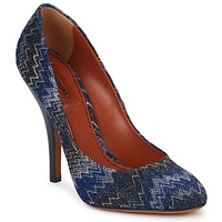Schuhe Damen Pumps Missoni VM005 Blau