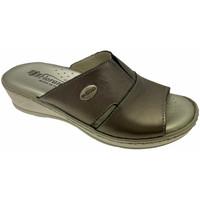 Schuhe Damen Pantoffel Florance FL22505bro tortora