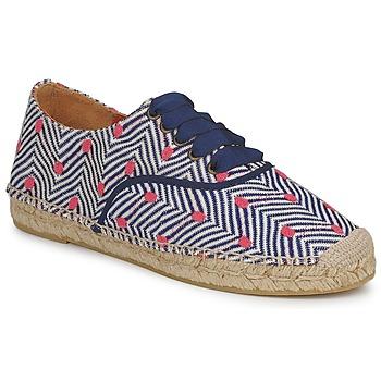 Schuhe Damen Leinen-Pantoletten mit gefloch Missoni VM045 Blau / Rose