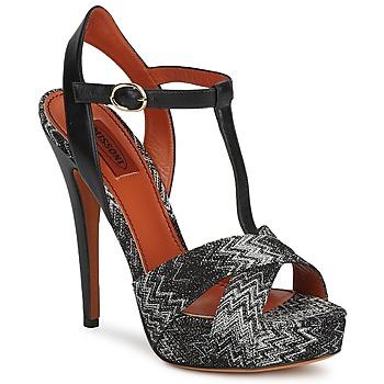 Schuhe Damen Sandalen / Sandaletten Missoni VM034 Schwarz / Weiss