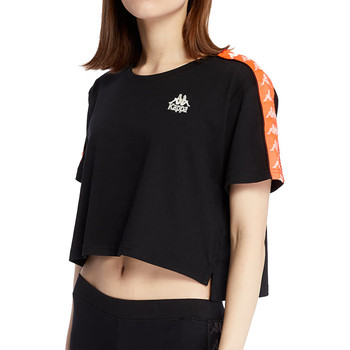 Kleidung Damen T-Shirts Kappa 303WGQ0 Schwarz