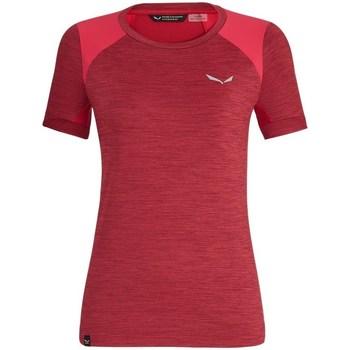 Kleidung Damen T-Shirts Salewa 271251830 Kirschrot