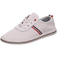 Schuhe Damen Sneaker Low Scandi Schnuerschuhe 220-0002-L1 weiß