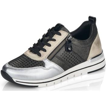 Schuhe Damen Sneaker Low Remonte Dorndorf Schnuerschuhe SCHNÜRHALBSCHUH R6702-02 (G) schwarz