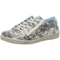 Schuhe Damen Sneaker Low Cloud Schnuerschuhe AIKA BLACK FLOWER weiß