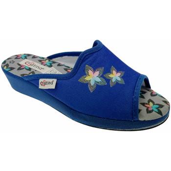 Schuhe Damen Pantoffel Cristina CRI47avio blu