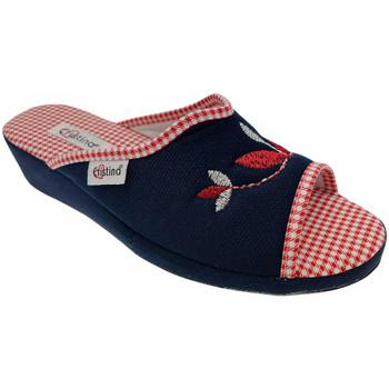 Schuhe Damen Pantoffel Cristina CRI51blu blu