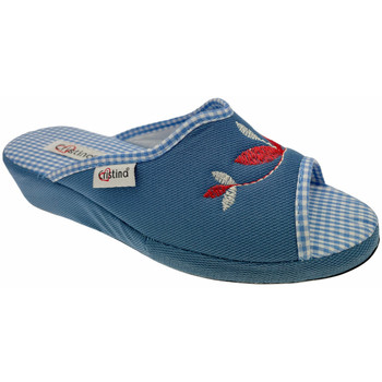 Schuhe Damen Pantoffel Cristina CRI51avio blu