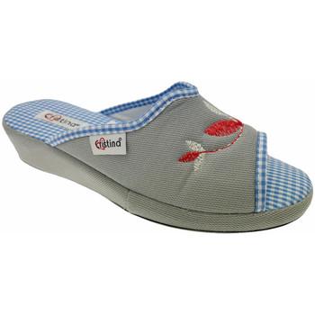 Schuhe Damen Pantoffel Cristina CRI51gri grigio