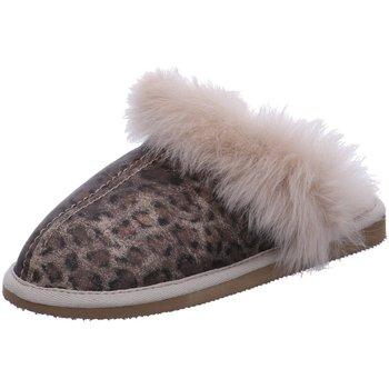 Schuhe Damen Hausschuhe Shepherd Evelina 1929337-leopard braun