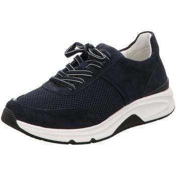 Schuhe Damen Sneaker Low Rollingsoft By Gabor Schnuerschuhe 66.897.36 blau