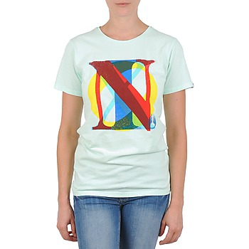 Kleidung Damen T-Shirts Nixon PACIFIC Grün