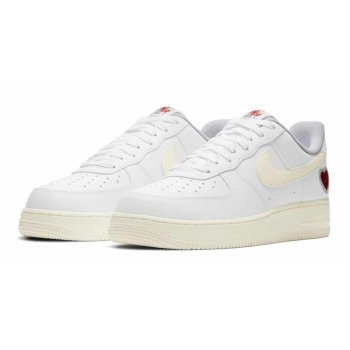 Schuhe Sneaker Low Nike Air Force 1 Low Valentines Day White/Sail-University Red