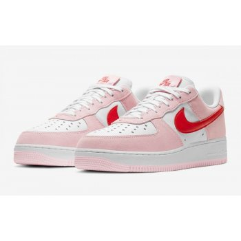 Schuhe Sneaker Low Nike Air Force 1 Low Love Letter Tulip Pink/University Red-White