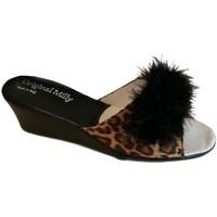 Schuhe Damen Pantoffel Milly MILLY102CIGNOanim nero