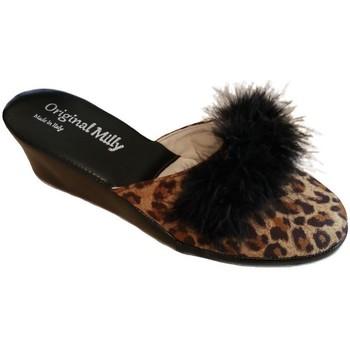 Schuhe Damen Pantoffel Milly MILLY300CIGNOanimal nero