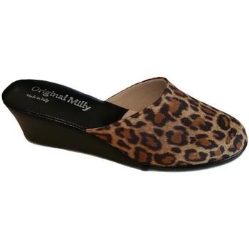 Schuhe Damen Pantoffel Milly MILLY5000animal nero