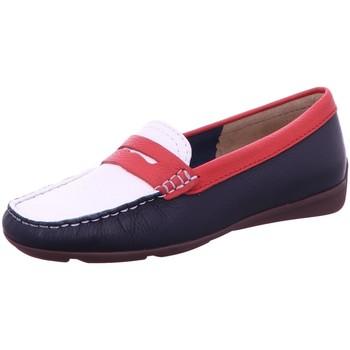 Schuhe Damen Slipper Wirth Slipper blue/branco/granada 35008 weiß
