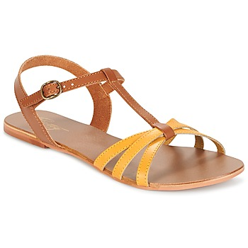 Schuhe Damen Sandalen / Sandaletten Betty London IXADOL Gelb / Camel
