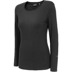 Kleidung Damen Langarmshirts 4F Women's Longsleeve Schwarz