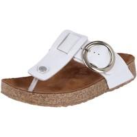 Schuhe Damen Zehensandalen Haflinger Pantoletten Round Buckle Corinna 819075-1644 weiss 819075-1644 weiß
