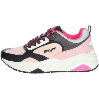 Schuhe Damen Sneaker Low Blauer TAYLOR01 Schwarz/rosa