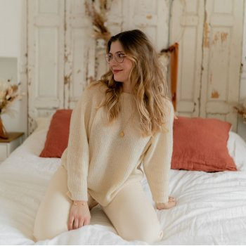 Kleidung Damen Pullover Céleste COMETE Ecru