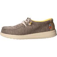 Schuhe Jungen Slipper Hey Dude - Sneaker beige safari WALLY YOUTH 0408 BEIGE