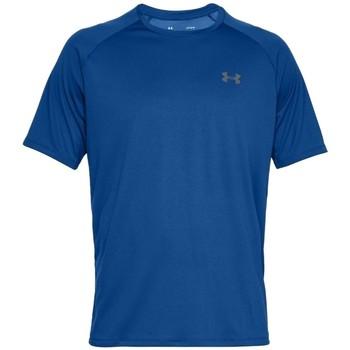 Kleidung Herren T-Shirts Under Armour Tech 2.0 Short Sleeve Blau