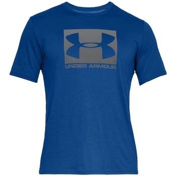 Kleidung Herren T-Shirts Under Armour Boxed Sportstyle SS Tee Blau