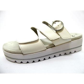 Schuhe Damen Pantoffel Jana  weiß