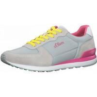 Schuhe Damen Sneaker Low S.Oliver Sneaker Grau/Pink