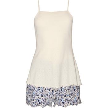 Kleidung Damen Pyjamas/ Nachthemden Lisca Limitless Tank Top Pyjama Shorts  Wange Blau