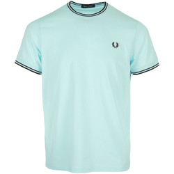 Kleidung Herren T-Shirts Fred Perry Twin Tipped T-Shirt Blau