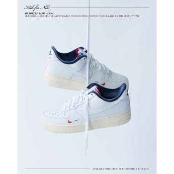 Schuhe Sneaker Low Nike Air Force 1 Low x Kith Paris White/Red-Navy