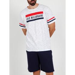 Kleidung Herren Pyjamas/ Nachthemden Admas For Men Pyjama kurzes T-shirt Millionär Lois weiß Admas Weiß