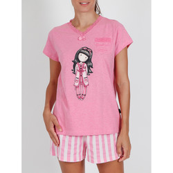 Kleidung Damen Pyjamas/ Nachthemden Admas Pyjama-Shorts T-Shirt Goodnight Gorjuss Santoro rosa Zartrosa