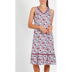 Kleidung Damen Pyjamas/ Nachthemden Admas Ärmelloses Nachthemd Blue And Red blau Blau