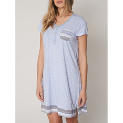 Kleidung Damen Pyjamas/ Nachthemden Admas Kurzärmeliges Nachthemd Small Dots Blau
