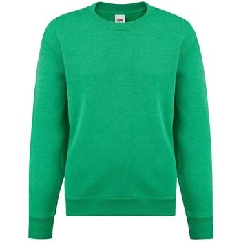 Kleidung Mädchen Sweatshirts Fruit Of The Loom SS9B Grün meliert