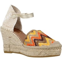 Schuhe Damen Leinen-Pantoletten mit gefloch Vidorreta 07100MSTI Brown