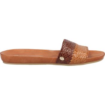 Schuhe Damen Pantoletten / Clogs Fred de la Bretoniere Pantoletten Gelb/Braun