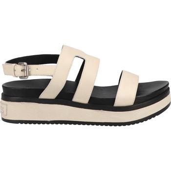 Schuhe Damen Sandalen / Sandaletten Shabbies Amsterdam Pantoletten Weiß