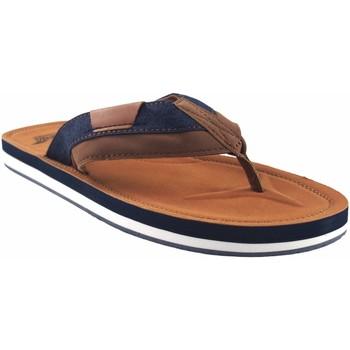 Schuhe Herren Zehensandalen Bitesta Sandale  21s 0902b Leder Braun