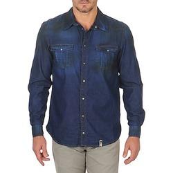 Kleidung Herren Langärmelige Hemden Freeman T.Porter CORWEND DENIM Blau